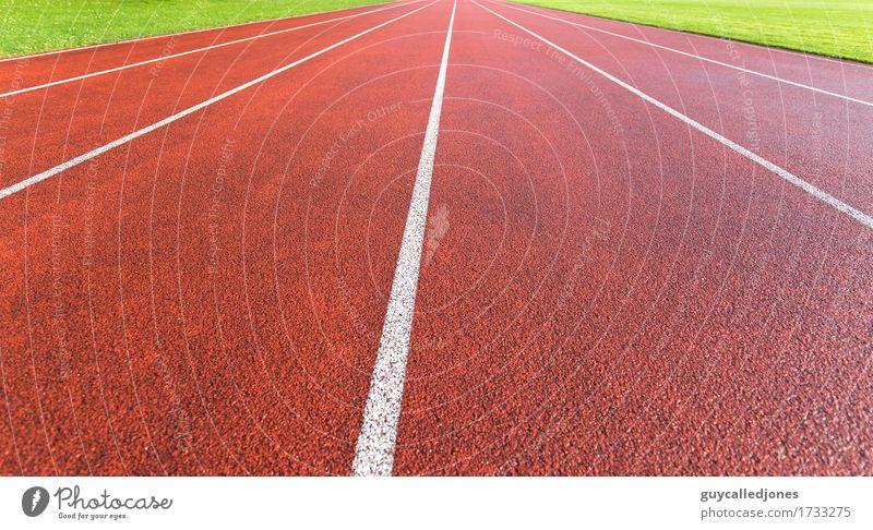 Laufbahn rot Freude Leben Wege & Pfade Bewegung Sport Gesundheit Feste & Feiern Freizeit & Hobby laufen Zukunft Geschwindigkeit Fitness Wellness sportlich