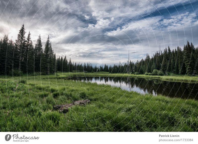 Spring Lake schön Ferien & Urlaub & Reisen Tourismus Abenteuer Sommer Berge u. Gebirge Umwelt Natur Landschaft Himmel Wolken Klimawandel Wetter Schönes Wetter