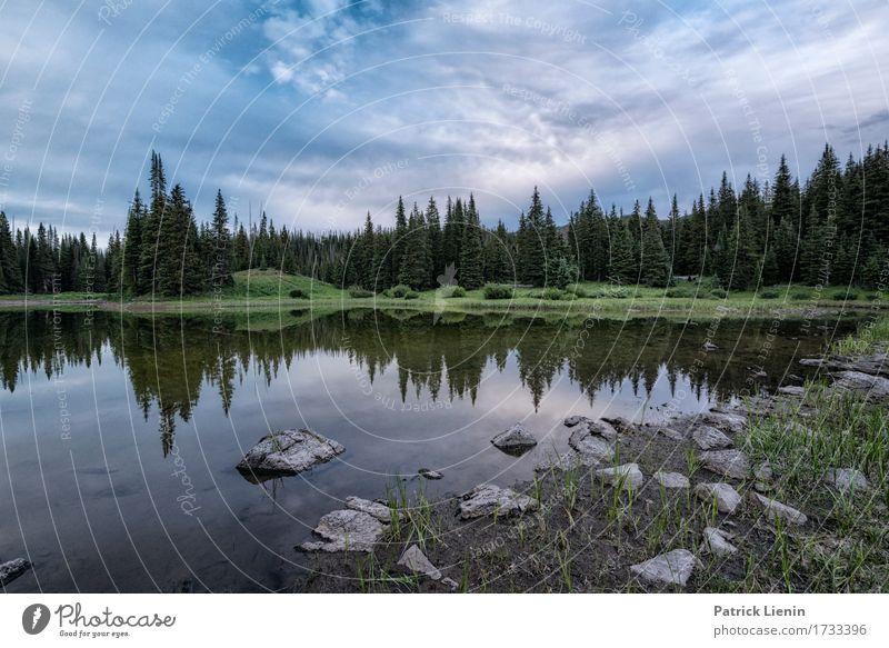 Spring Lake schön Ferien & Urlaub & Reisen Tourismus Abenteuer Sommer Berge u. Gebirge Umwelt Natur Landschaft Himmel Wolken Klima Klimawandel Baum Park Wiese