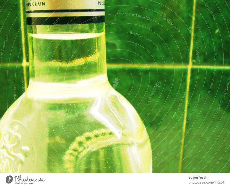 Wodka, weiss Flaschenhals Alkohol Fliesen u. Kacheln