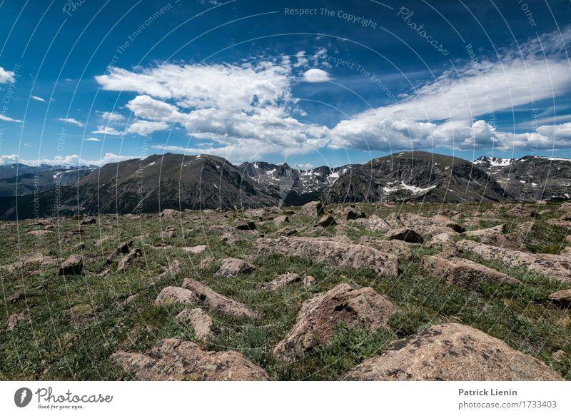 Himmel Natur Ferien & Urlaub & Reisen blau Sommer schön Landschaft Wolken Berge u. Gebirge Umwelt Wege & Pfade Wiese natürlich Felsen Tourismus wild