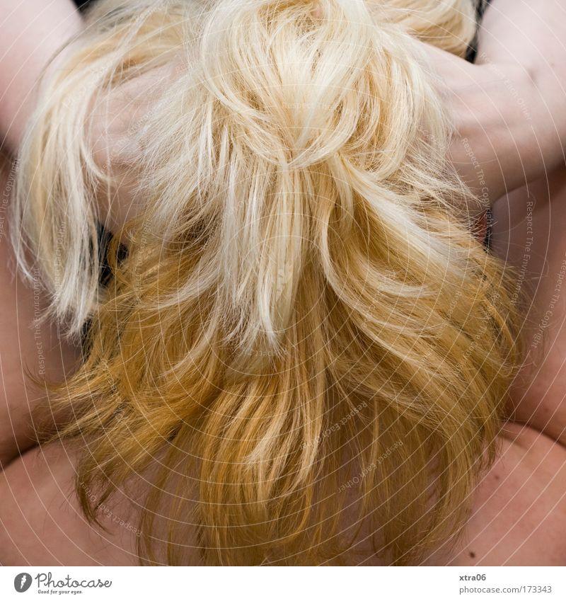 nicht das wonach es aussieht Farbfoto Innenaufnahme Studioaufnahme feminin Junge Frau Jugendliche Erwachsene Haut Kopf Haare & Frisuren Arme Hand 1 Mensch