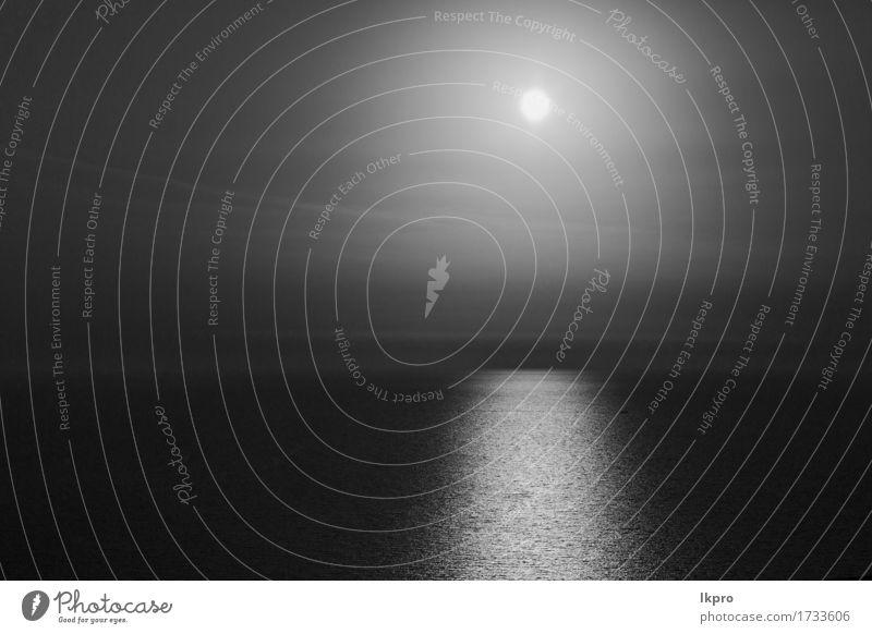 Mittelmeer res Meer ruhig Ferien & Urlaub & Reisen Sommer Sonne Insel Wellen Tapete Natur Landschaft Himmel Wolken Horizont Wärme Küste heiß gold schwarz weiß