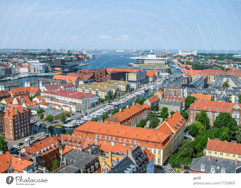Copenhagen in Denmark Meer Kultur Küste Stadt Hauptstadt Hafen Bauwerk Gebäude Architektur oben Tradition Kopenhagen Dänemark Europa Skandinavien kommunal