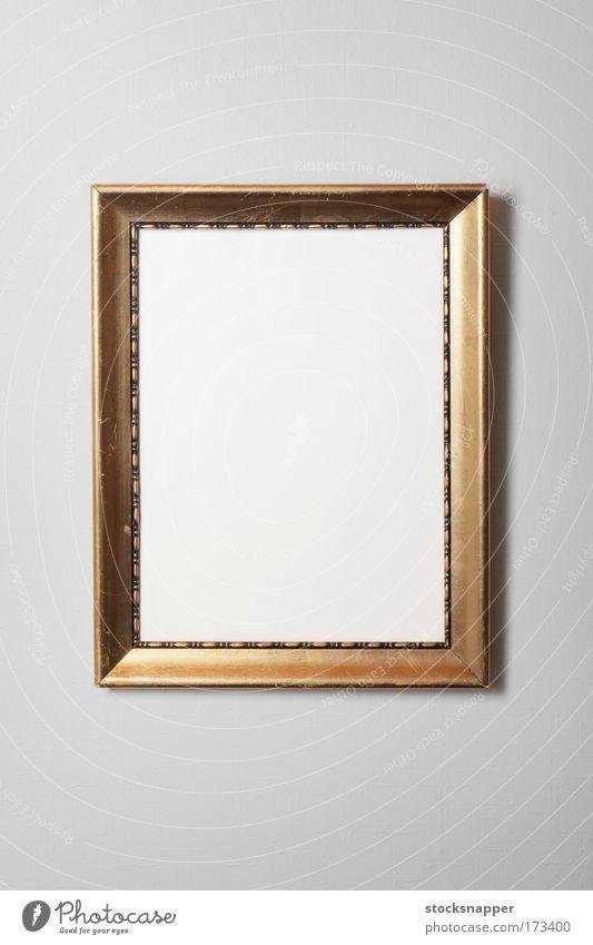 Rahmen alt Fotografie golden dreckig abgenutzt altehrwürdig niemand Wand blanko Hintergrundbild Objektfotografie