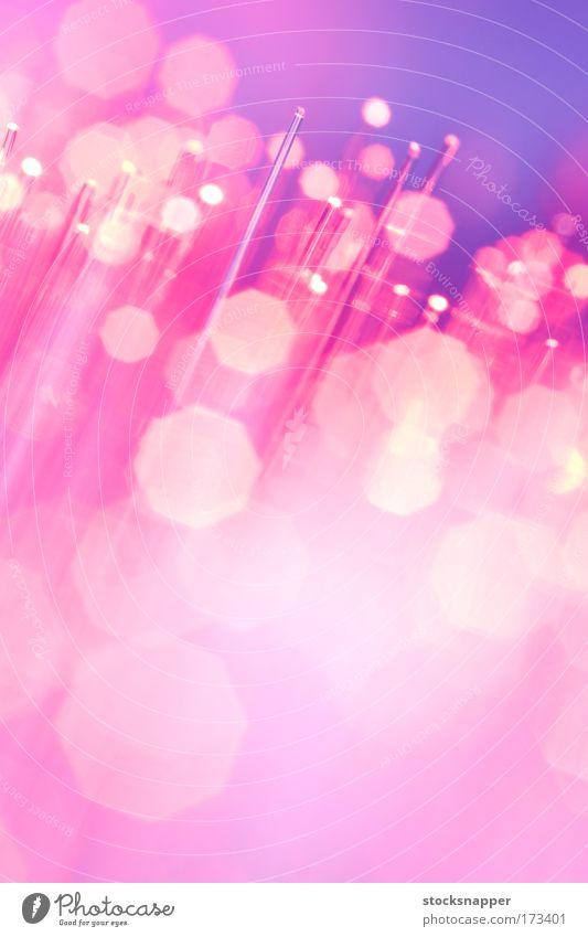 Beleuchtung rosa Geschwindigkeit Kabel Technik & Technologie Telekommunikation Information Wissenschaften Futurismus durchsichtig Verlauf glühen Verbundenheit Mitteilung Computernetzwerk Physik