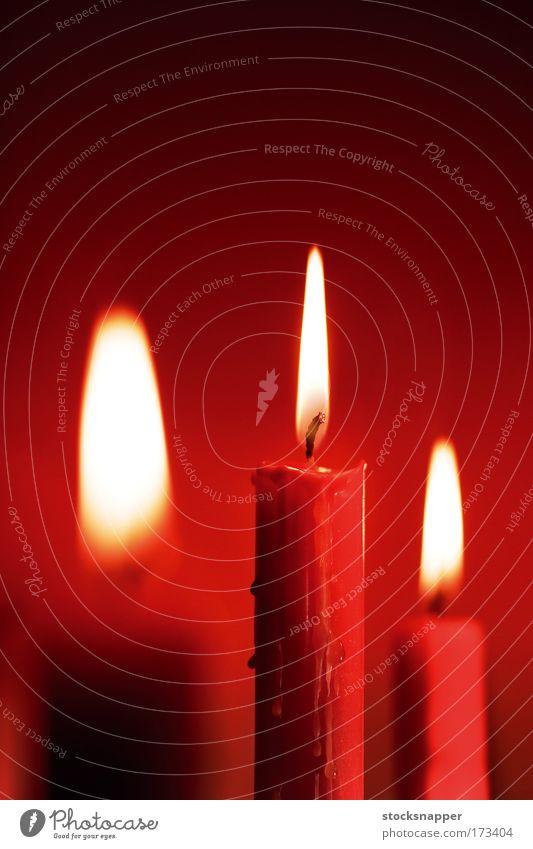 Weihnachten & Advent rot Ferien & Urlaub & Reisen Feuer Kerze Flamme schmelzen zerlaufen geschmolzen