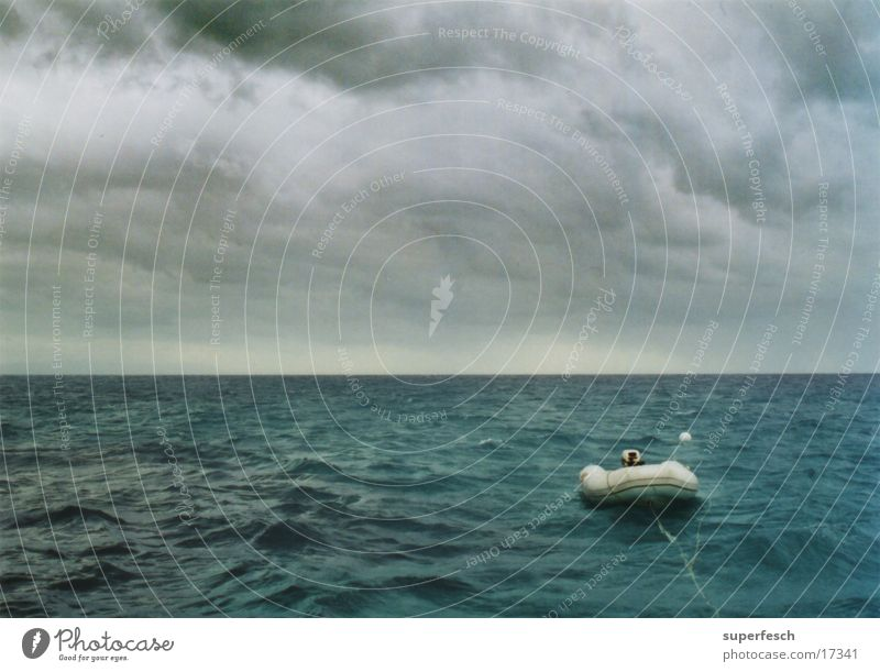 great barrier reef Meer Wasserfahrzeug Schlauchboot Sturm Leidenschaft Wellen Wolken Australien