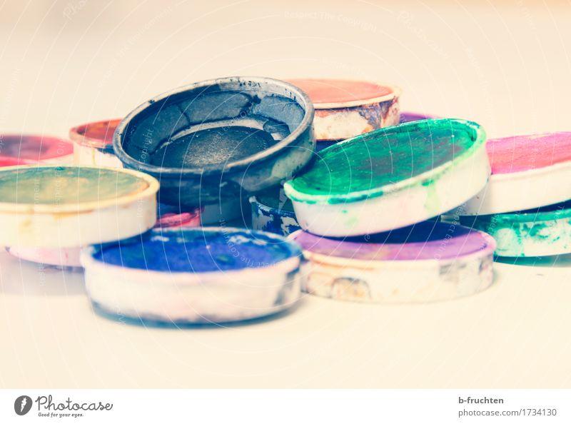 Malfarben Freizeit & Hobby Schule Maler dreckig trocken Wärme Farbe Kreativität Kunst Leichtigkeit Präzision wassermalfarbe deckfarben Farbton Aquarell