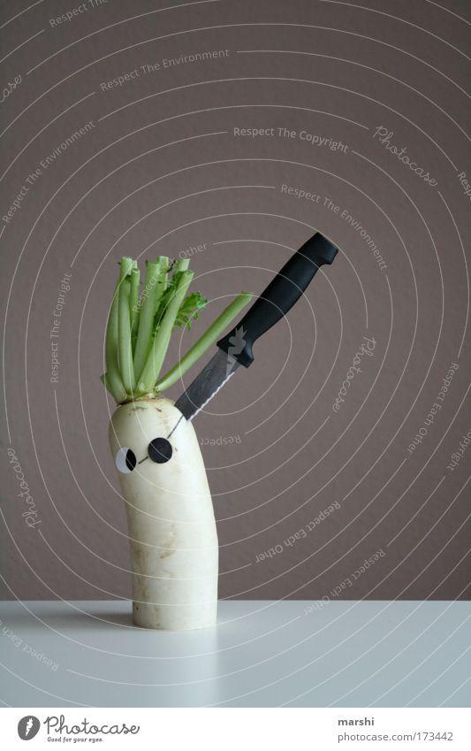 Rettic - Attack weiß Gesicht Auge Ernährung Gefühle Angst Gesundheit Lebensmittel gefährlich gruselig Gemüse Mut Bioprodukte Charakter Messer Pirat
