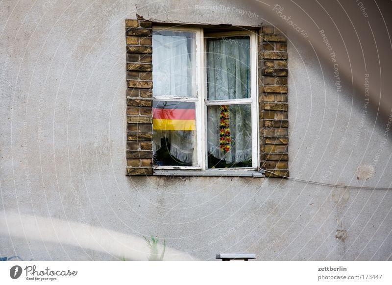 Strandburg Haus Fenster Deutschland Fassade Fahne Dekoration & Verzierung Deutsche Flagge Wahrzeichen Stolz Einfamilienhaus Nationalitäten u. Ethnien