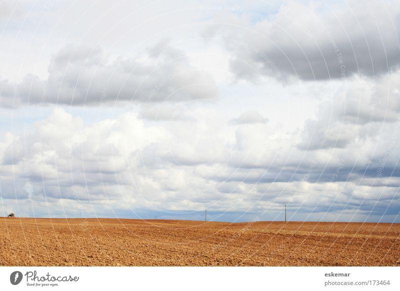 Land Natur Himmel Ferien & Urlaub & Reisen ruhig Wolken Einsamkeit Ferne Freiheit Traurigkeit Zufriedenheit Stimmung Feld Umwelt groß Horizont Erde