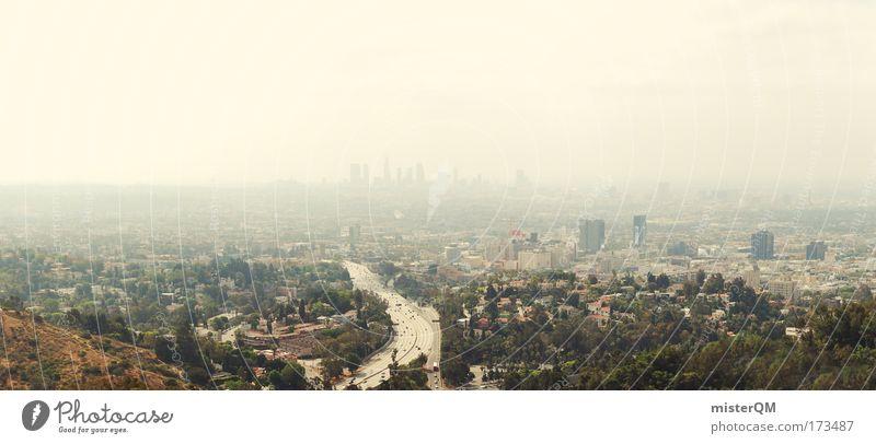 humanity. Mensch Stadt Hochhaus groß Kalifornien USA viele Mitte Skyline Autobahn Stahl Stress Singapore Wirtschaft Abgas Surrealismus