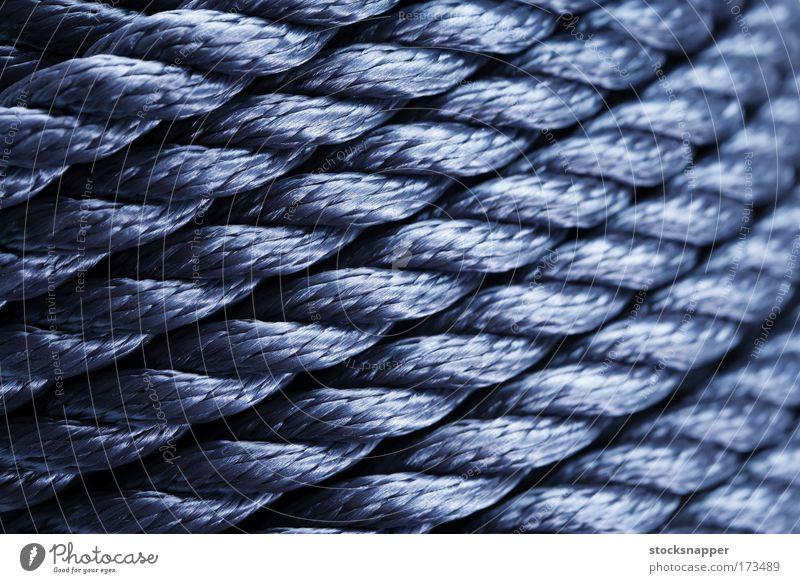 blau Seil Hintergrundbild Stoff diagonal Walze Konsistenz Nylon synthetisch