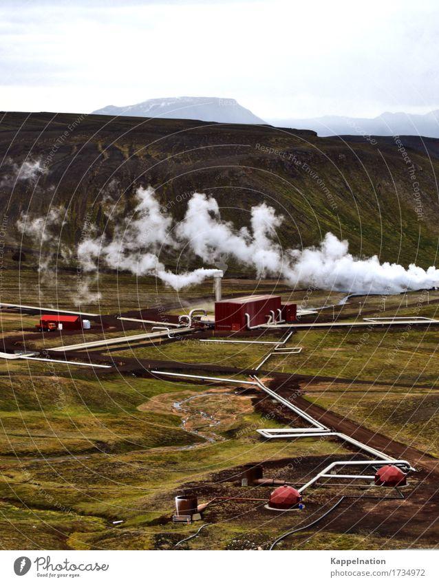 Geothermalkraftwerk Island Wissenschaften Fortschritt Zukunft Energiewirtschaft Erneuerbare Energie Umwelt Natur Erde Klimawandel Insel Industrieanlage heiß