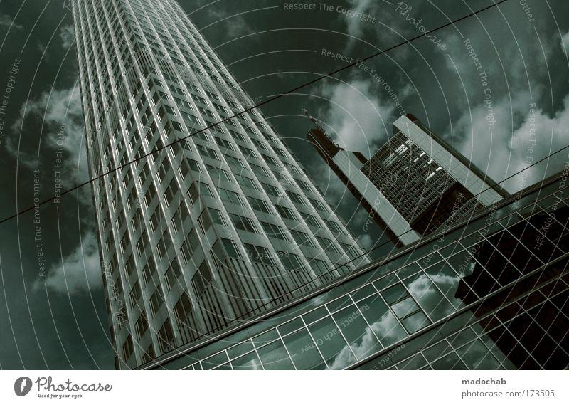 Nur die Stummen beneiden die Redsamen. Frankfurt am Main Stadt Hochhaus Bankgebäude Gebäude Architektur Skyline Angst Stress Arbeit & Erwerbstätigkeit Business