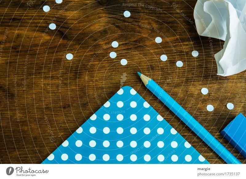 Punkte sammeln blau blau weiß Arbeit & Erwerbstätigkeit Büro Beruf Arbeitsplatz Büroarbeit