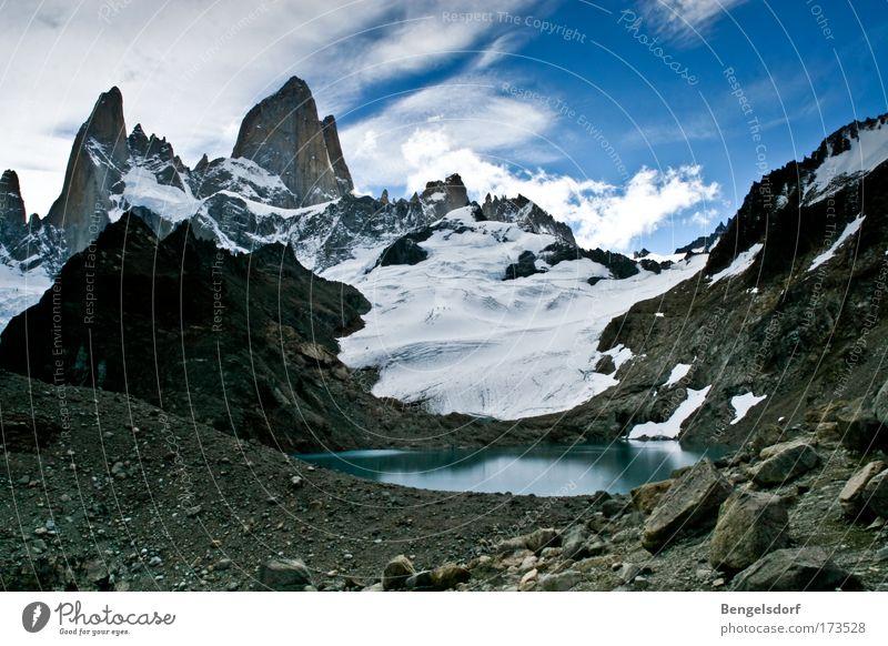Trekking the Andens Himmel Natur Wasser Sonne Ferien & Urlaub & Reisen Wolken Einsamkeit Ferne Schnee Freiheit Berge u. Gebirge Landschaft Umwelt Wetter Erde