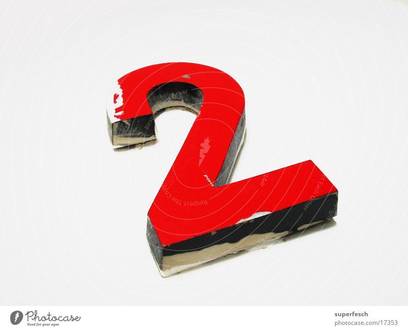 zwo rot Farbe 2 Ziffern & Zahlen Dinge Etage Doppelbelichtung