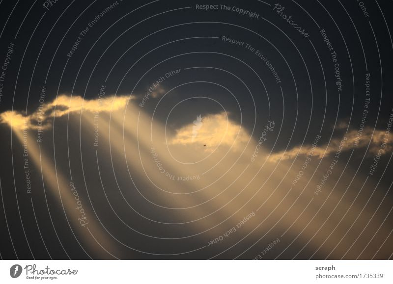 Wolkenbild Himmel Himmel (Jenseits) Strukturen & Formen Kumulus Meteorologie Wetter Luft Stimmung Atmosphäre Umwelt Klima Sonnenstrahlen Lichtstrahl