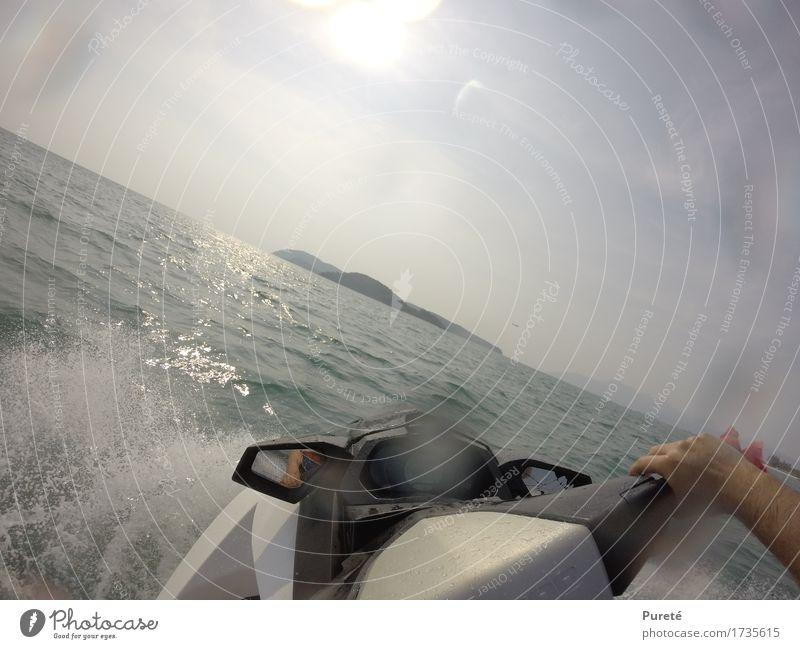 Dreh Moment Freude sportlich Schwimmen & Baden Ferien & Urlaub & Reisen Tourismus Abenteuer Sommer Sommerurlaub Sonne Meer Insel Sport Wassersport Jet-Ski