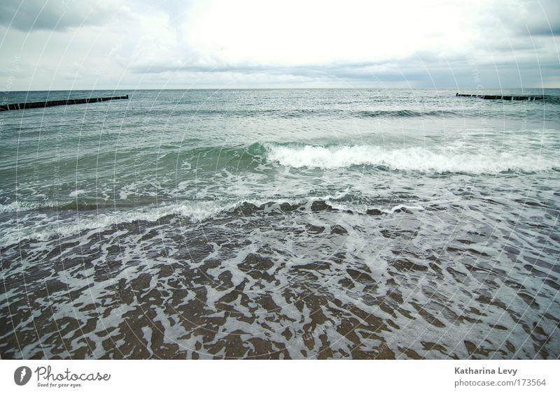 Ab in den Osten Wasser Sommer Strand Meer Wolken Landschaft Umwelt Glück Sand Küste Wellen Wind Horizont Tourismus authentisch Urelemente