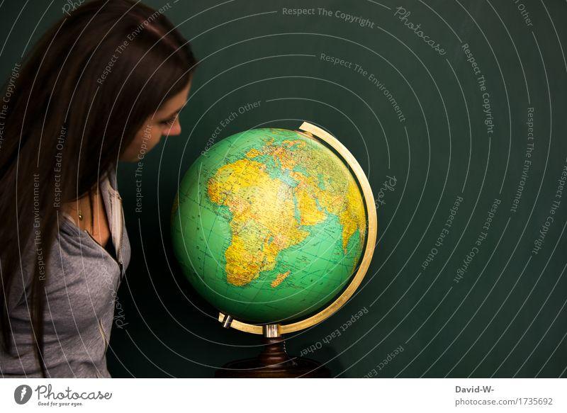 wo soll die Reise hingehen Frau Globus weltreise Geografie Erdkunde Länder Urlaub Urlaubsort planung urlaubsziel Urlaubsreise urlaubsreif Erde Kugel rund
