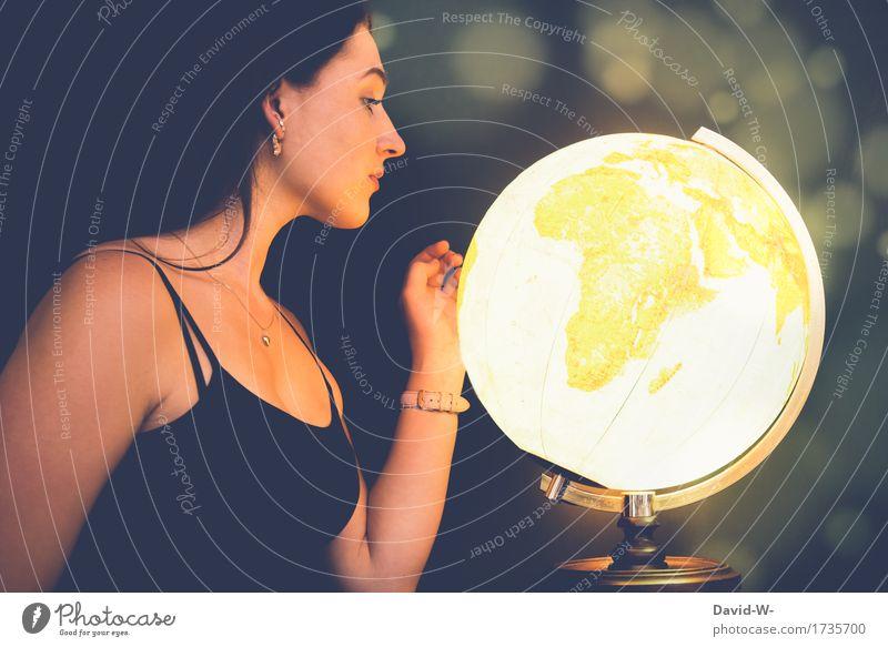 Auf der Suche nach einem Abenteuer Mensch Frau Ferien & Urlaub & Reisen Jugendliche schön Junge Frau Ferne 18-30 Jahre Erwachsene Umwelt Leben feminin Kunst