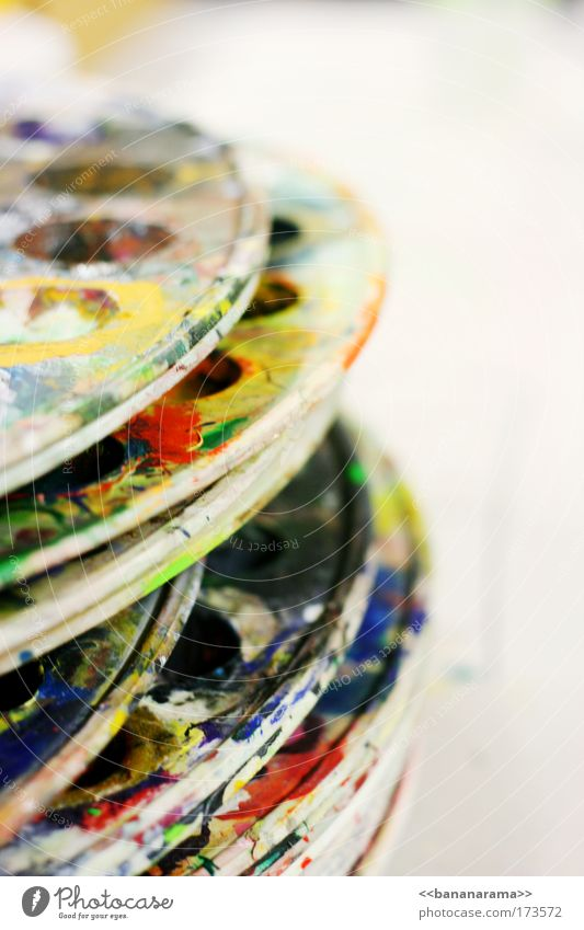 Le peintre blau rot gelb Kunst dreckig Bild Farbe Gemälde malen Kreativität Artist Künstler Pinsel Maler Atelier Geschirrspülen