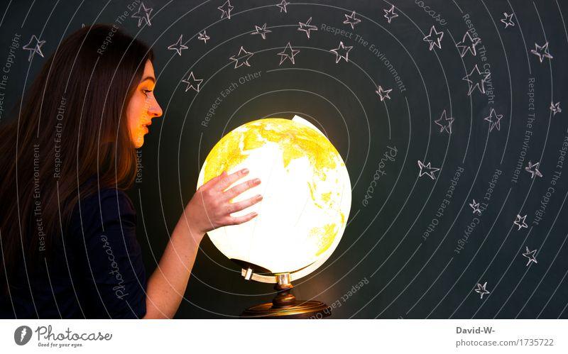 Die Welt Freizeit & Hobby Ausflug Abenteuer Ferne Freiheit Bildung Wissenschaften Mensch feminin Junge Frau Jugendliche Erwachsene Kindheit Leben 1 Kunst Umwelt