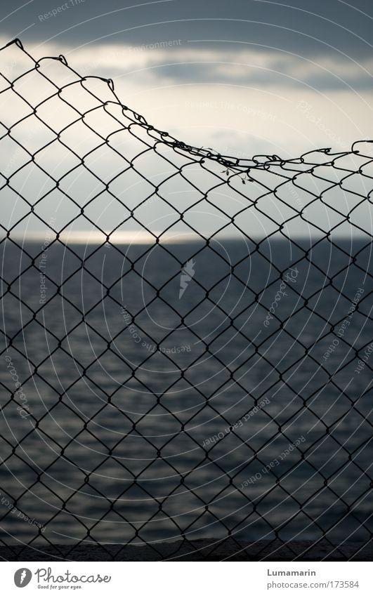catch me if you can Himmel Wasser Meer ruhig Ferne Umwelt Freiheit grau Küste Traurigkeit Stimmung Horizont Wellen gold Hoffnung Zukunft