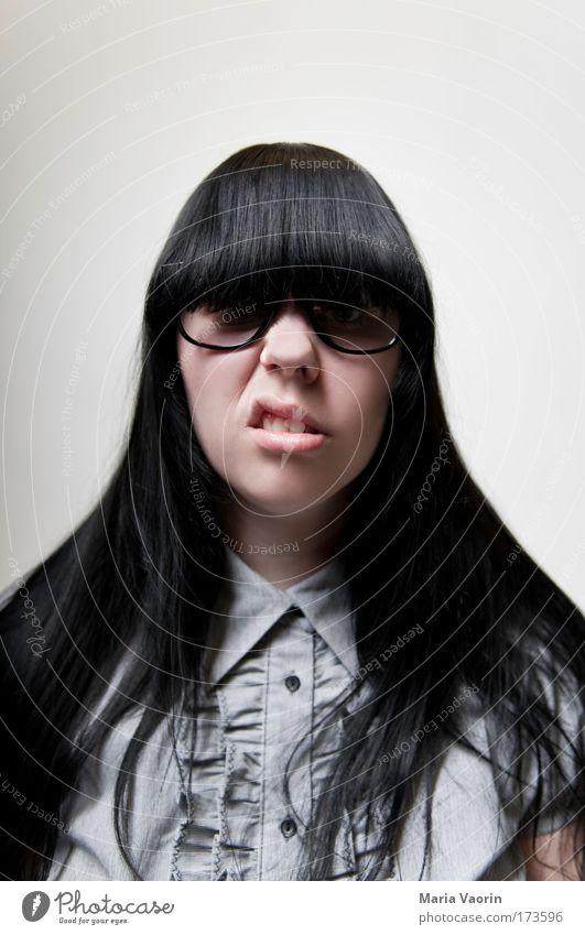 A tribute to udo Mensch Jugendliche feminin grau Denken Erwachsene Studium lernen Brille Bildung Student einzigartig trashig Hemd Frau