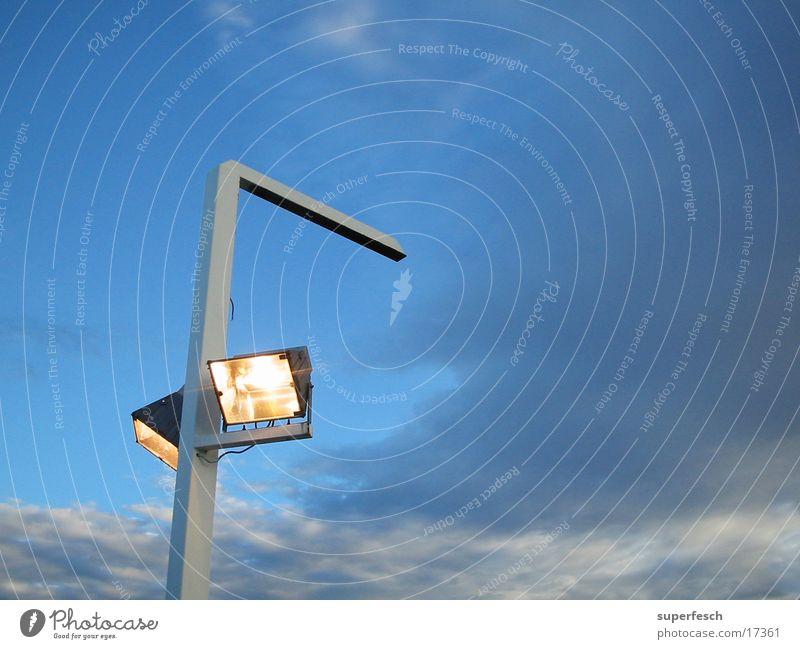 Erleuchtung Himmel Lampe Technik & Technologie Strommast Scheinwerfer Pfosten Elektrisches Gerät