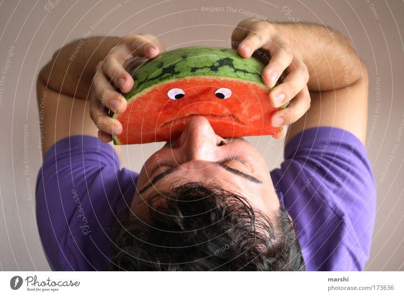 Wilfired vs. Gabriel Gabel Farbfoto Lebensmittel Frucht Ernährung Essen Picknick Bioprodukte Vegetarische Ernährung Diät schön Mensch Gesicht Mund 1 frisch
