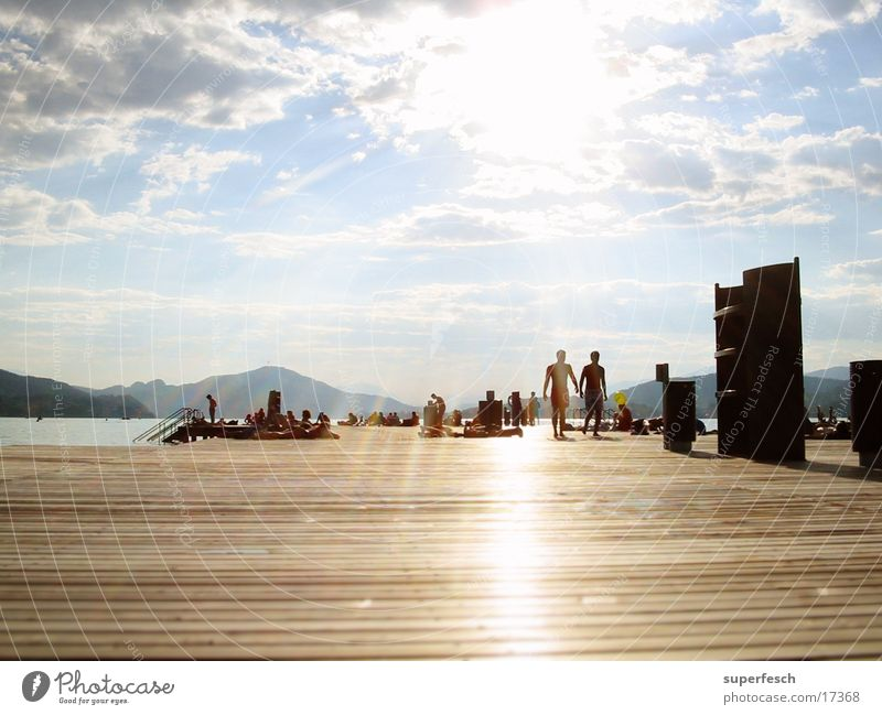 Sonnensteg Sommer See Europa Schwimmen & Baden Steg Sonnenbad Schiffsplanken Bundesland Kärnten