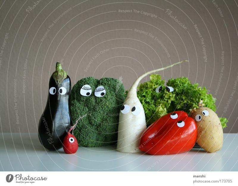Gemüseauflauf Gesicht Auge Ernährung Gefühle Mahlzeit Lebensmittel Angst Gesundheit Coolness Häusliches Leben lecker Vitamin Diät Bioprodukte Kohl
