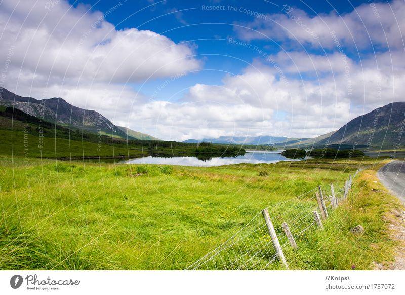 Am Straßenrand Natur Landschaft Wasser Himmel Wolken Schönes Wetter Berge u. Gebirge See Unendlichkeit Pause Republik Irland Farbfoto Außenaufnahme Tag
