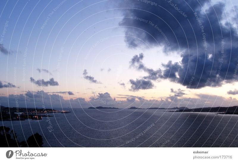 Vigo Himmel blau Ferien & Urlaub & Reisen Meer Wolken ruhig Ferne Farbe Landschaft Küste Stimmung Horizont groß Tourismus ästhetisch Hafen