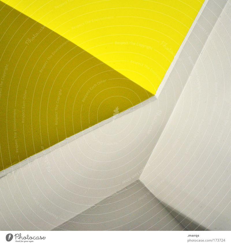 Gelbe Seiten weiß gelb Architektur Stil Linie elegant Design außergewöhnlich verrückt einzigartig Sauberkeit einfach Grafik u. Illustration Bauwerk Geometrie eckig