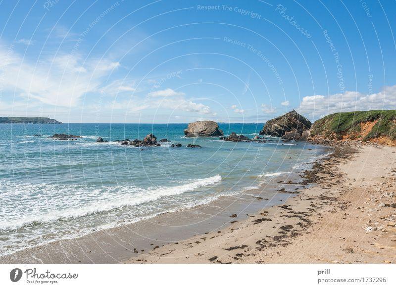 crozon peninsula in Brittany Sommer Strand Meer Natur Landschaft Pflanze Sand Wasser Sträucher Felsen Küste Stein Abenteuer Crozon Halbinsel Bretagne Atlantik