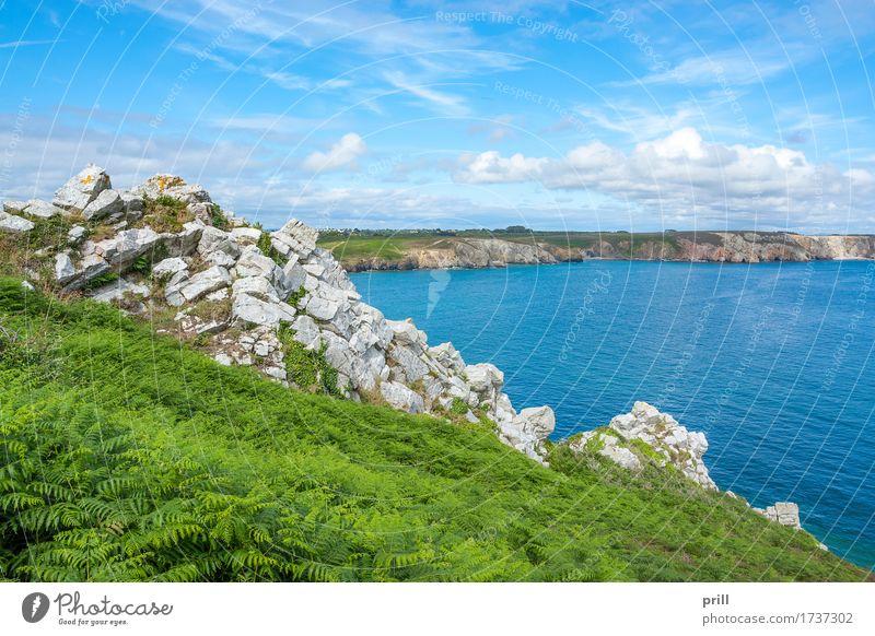 crozon peninsula in Brittany Sommer Meer Natur Landschaft Pflanze Wasser Sträucher Felsen Küste Stein maritim natürlich schön Crozon Halbinsel Bretagne Atlantik