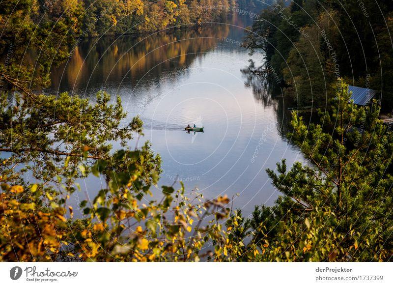 Kanutour über den See Ferien & Urlaub & Reisen Tourismus Ausflug Abenteuer Ferne Freiheit Sightseeing Expedition Camping wandern Umwelt Natur Landschaft Pflanze