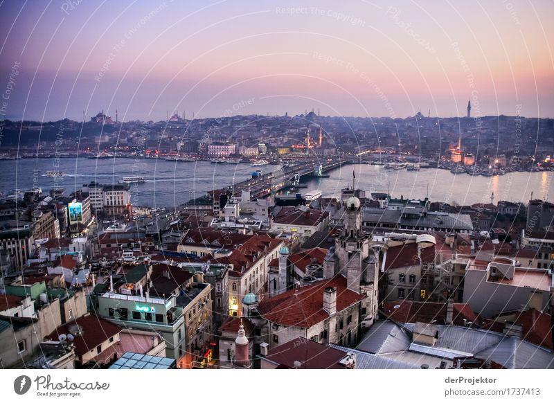 Sonnenuntergang in Istanbul Ferien & Urlaub & Reisen Tourismus Ausflug Abenteuer Ferne Freiheit Sightseeing Städtereise Kreuzfahrt Winter Hafenstadt Bauwerk