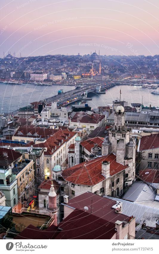 Abendstimmung am Bosporus Ferien & Urlaub & Reisen Ferne Freiheit Sightseeing Städtereise Hauptstadt Hafenstadt Stadtzentrum überbevölkert Haus Kirche Brücke
