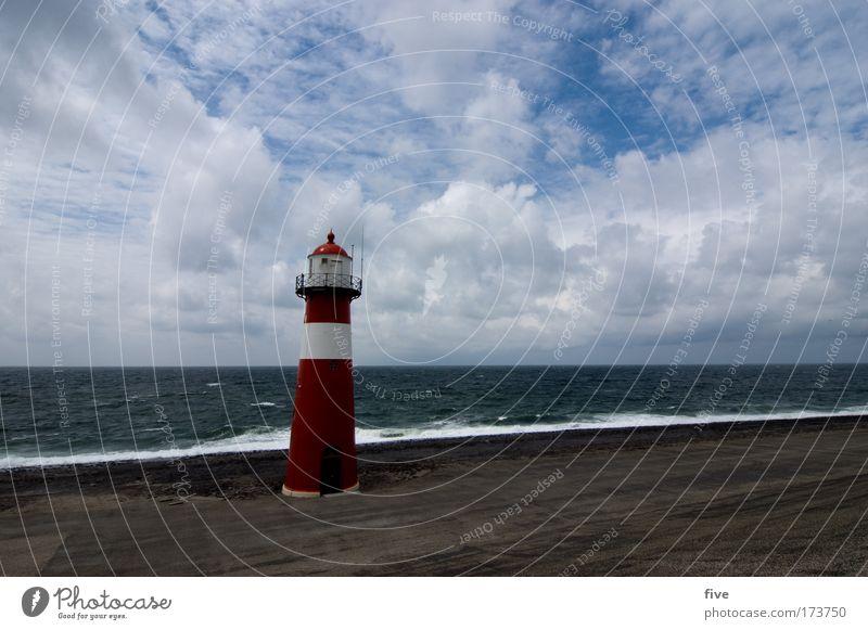 westkapelle_zeeland Natur Wasser Himmel Meer blau rot Sommer Strand Wolken Landschaft Stimmung Erde Wellen Wind Wetter Horizont