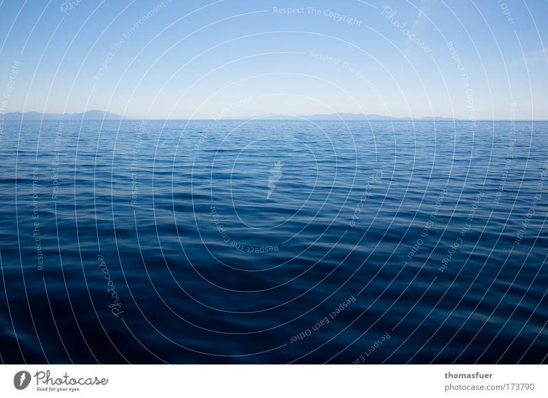 Atlantis Himmel Wasser blau Ferien & Urlaub & Reisen Meer ruhig Einsamkeit Ferne Erholung Traurigkeit Stimmung Zufriedenheit Horizont Insel groß frei