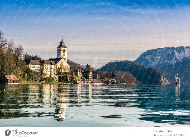 Wolfgangsee Natur Ferien & Urlaub & Reisen Landschaft Erholung ruhig Winter Berge u. Gebirge Umwelt Leben Herbst Schnee See Felsen Tourismus Zufriedenheit