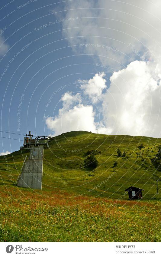 Der Berg ruft... oder ohne Schnee nichts los... Natur Himmel Baum blau Pflanze Sommer Ferien & Urlaub & Reisen Wolken Wiese Gras Berge u. Gebirge Landschaft