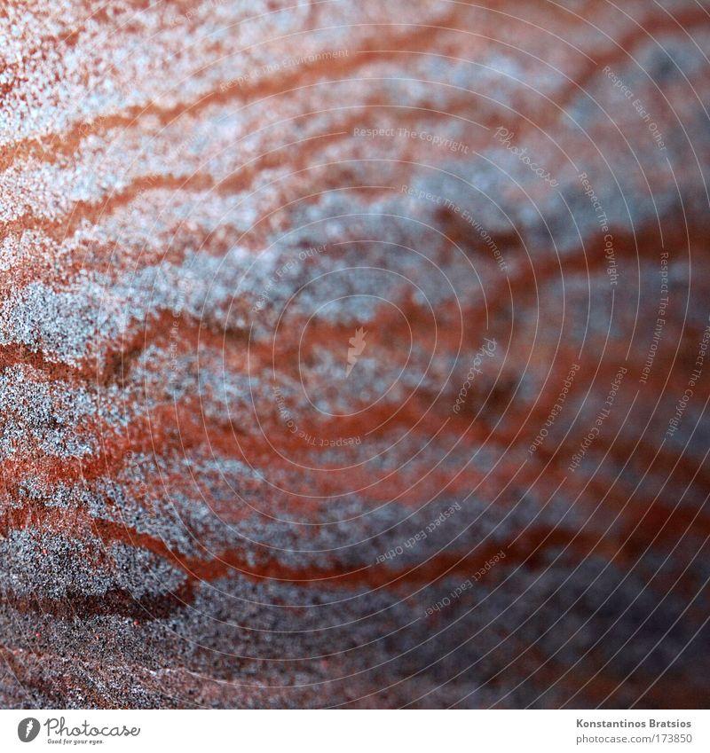 Oxidationswellen alt blau rot braun Metall weich Vergänglichkeit fest Rost silber Kupfer Patina Grünspan Wellenlinie Chemische Elemente