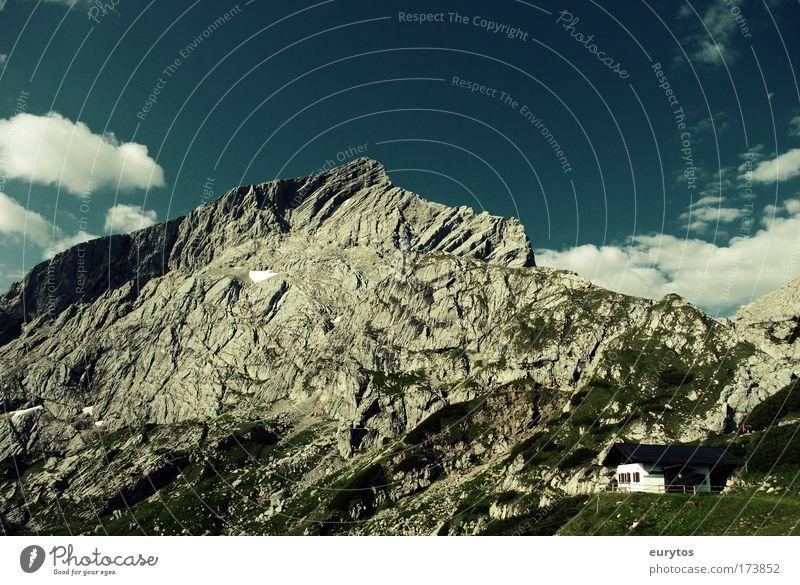 Bergsommer Himmel Natur blau grün Pflanze Sonne Tier Wolken Umwelt Landschaft Berge u. Gebirge grau Wetter Zufriedenheit Felsen groß